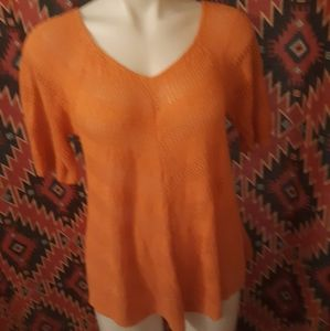 New directions orange knit top